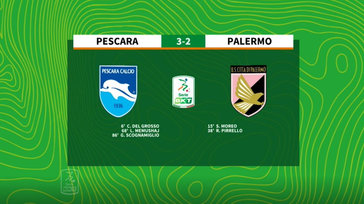 HIGHLIGHTS #PescaraPalermo 3-2  PESCARA Calcio 1936
